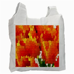 Mosaic Glass Colorful Color Recycle Bag (one Side)
