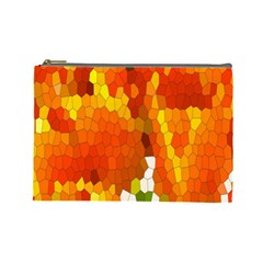 Mosaic Glass Colorful Color Cosmetic Bag (large)