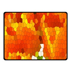 Mosaic Glass Colorful Color Fleece Blanket (small)