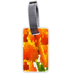 Mosaic Glass Colorful Color Luggage Tags (One Side)