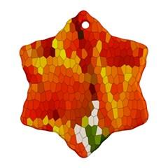 Mosaic Glass Colorful Color Ornament (Snowflake)