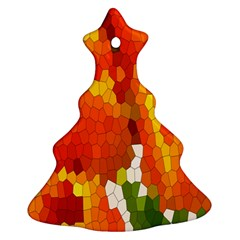 Mosaic Glass Colorful Color Ornament (Christmas Tree)