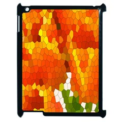 Mosaic Glass Colorful Color Apple iPad 2 Case (Black)