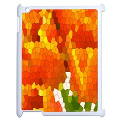 Mosaic Glass Colorful Color Apple Ipad 2 Case (white)