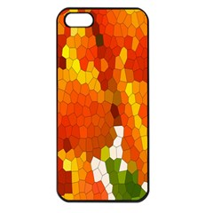 Mosaic Glass Colorful Color Apple iPhone 5 Seamless Case (Black)