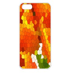 Mosaic Glass Colorful Color Apple Iphone 5 Seamless Case (white)