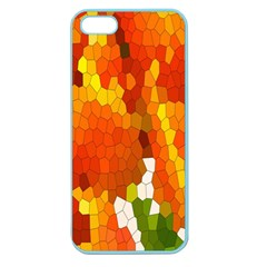 Mosaic Glass Colorful Color Apple Seamless iPhone 5 Case (Color)