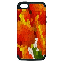 Mosaic Glass Colorful Color Apple iPhone 5 Hardshell Case (PC+Silicone)