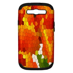 Mosaic Glass Colorful Color Samsung Galaxy S III Hardshell Case (PC+Silicone)