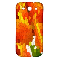Mosaic Glass Colorful Color Samsung Galaxy S3 S III Classic Hardshell Back Case