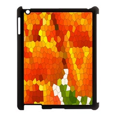 Mosaic Glass Colorful Color Apple iPad 3/4 Case (Black)