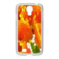 Mosaic Glass Colorful Color Samsung GALAXY S4 I9500/ I9505 Case (White)