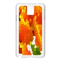 Mosaic Glass Colorful Color Samsung Galaxy Note 3 N9005 Case (white)