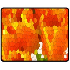 Mosaic Glass Colorful Color Double Sided Fleece Blanket (Medium)