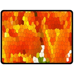 Mosaic Glass Colorful Color Double Sided Fleece Blanket (Large)