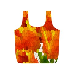 Mosaic Glass Colorful Color Full Print Recycle Bags (S)