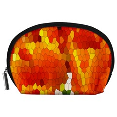 Mosaic Glass Colorful Color Accessory Pouches (Large)
