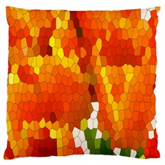 Mosaic Glass Colorful Color Standard Flano Cushion Case (Two Sides)