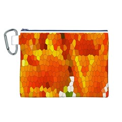 Mosaic Glass Colorful Color Canvas Cosmetic Bag (L)