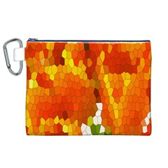 Mosaic Glass Colorful Color Canvas Cosmetic Bag (xl)