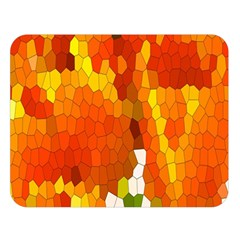 Mosaic Glass Colorful Color Double Sided Flano Blanket (Large)