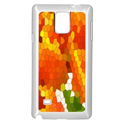 Mosaic Glass Colorful Color Samsung Galaxy Note 4 Case (white)
