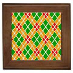 Colorful Color Pattern Diamonds Framed Tiles