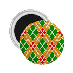 Colorful Color Pattern Diamonds 2.25  Magnets