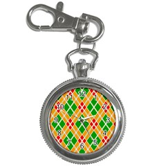 Colorful Color Pattern Diamonds Key Chain Watches