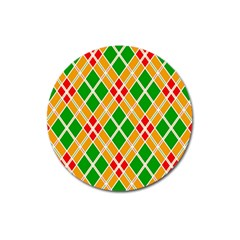 Colorful Color Pattern Diamonds Magnet 3  (Round)