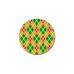 Colorful Color Pattern Diamonds Golf Ball Marker (4 Pack)