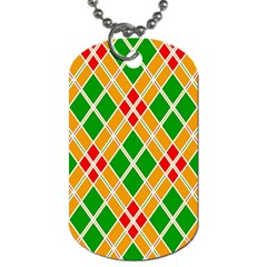 Colorful Color Pattern Diamonds Dog Tag (Two Sides)