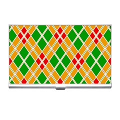 Colorful Color Pattern Diamonds Business Card Holders