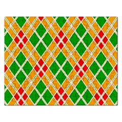 Colorful Color Pattern Diamonds Rectangular Jigsaw Puzzl