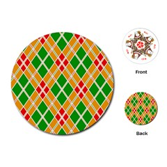 Colorful Color Pattern Diamonds Playing Cards (round)