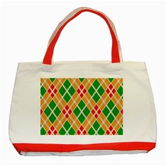 Colorful Color Pattern Diamonds Classic Tote Bag (Red)