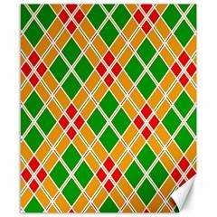 Colorful Color Pattern Diamonds Canvas 8  x 10