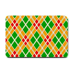 Colorful Color Pattern Diamonds Small Doormat