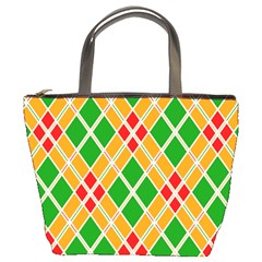 Colorful Color Pattern Diamonds Bucket Bags