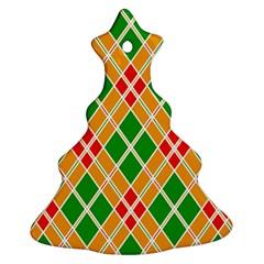 Colorful Color Pattern Diamonds Ornament (Christmas Tree)