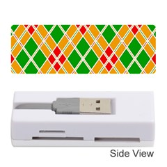 Colorful Color Pattern Diamonds Memory Card Reader (stick)