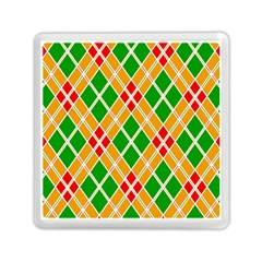 Colorful Color Pattern Diamonds Memory Card Reader (square)