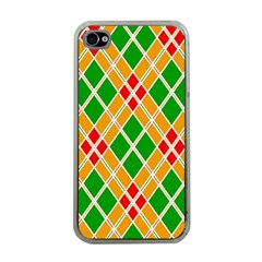 Colorful Color Pattern Diamonds Apple iPhone 4 Case (Clear)