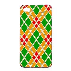 Colorful Color Pattern Diamonds Apple iPhone 4/4s Seamless Case (Black)