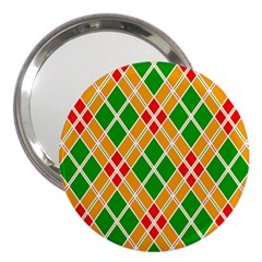 Colorful Color Pattern Diamonds 3  Handbag Mirrors