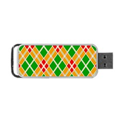 Colorful Color Pattern Diamonds Portable Usb Flash (two Sides)