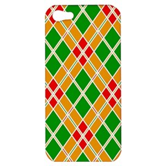 Colorful Color Pattern Diamonds Apple Iphone 5 Hardshell Case