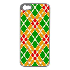 Colorful Color Pattern Diamonds Apple iPhone 5 Case (Silver)