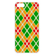 Colorful Color Pattern Diamonds Apple iPhone 5 Seamless Case (White)