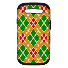Colorful Color Pattern Diamonds Samsung Galaxy S III Hardshell Case (PC+Silicone)